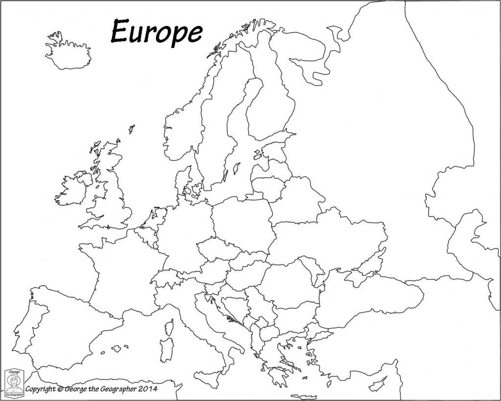 Blank Europe Political Map - Maplewebandpc - Blank Political Map Of Europe Printable
