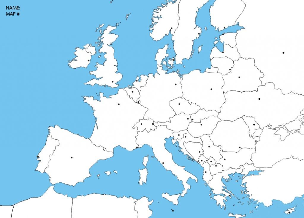Blank Europe Political Map | Sksinternational - Blank Political Map Of Europe Printable