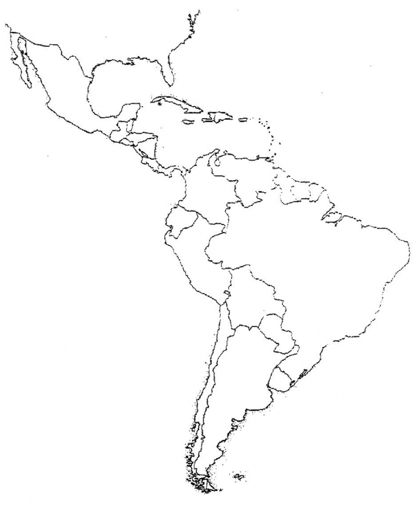 Blank Latin America Map Quiz | Social Studies | Latin America Map - Central America Map Quiz Printable