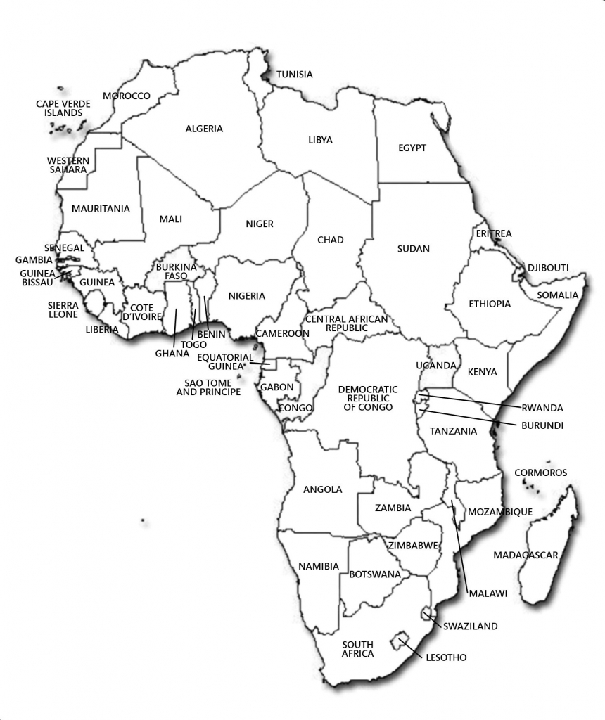 Blank Map Of Africa Countries - Lgq - Printable Blank Map Of Africa