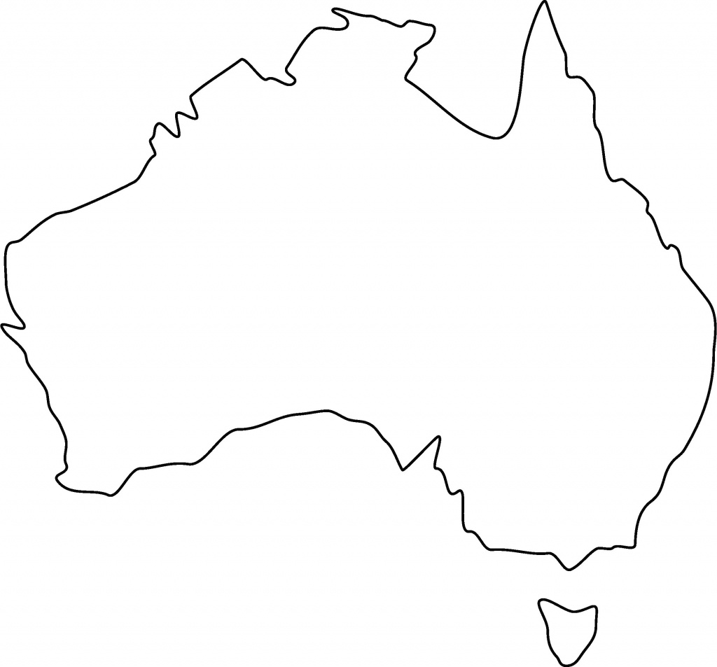 Blank Map Of Australia Fancy Outline With Printable World Maps - Blank Map Of Australia Printable