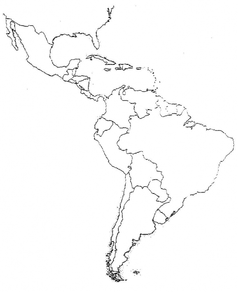 Blank Map Of Central And South America | Ageorgio - Blank Map Of Central And South America Printable