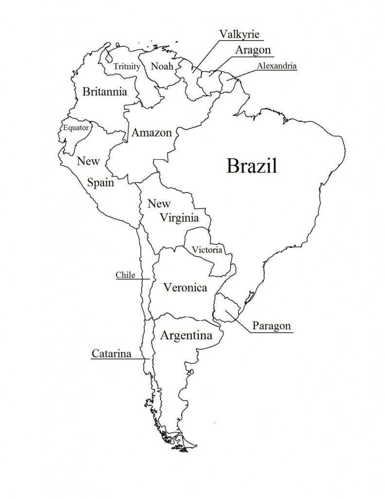 Blank Map Of Central And South America | Ageorgio - Printable Blank Map Of South America