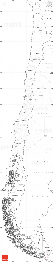 Blank Map Of Chile And Travel Information | Download Free Blank Map - Free Printable Map Of Chile