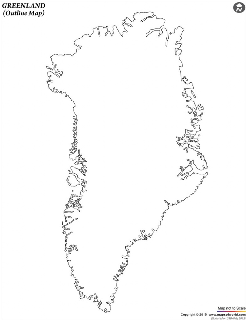 Blank Map Of Greenland | Greenland Outline Map - Outline Map Of Puerto Rico Printable