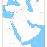 Blank Map Of Middle East | Cc Geography | Geography, Middle East Map   Printable Map Of Middle East