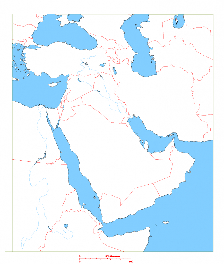 Blank Map Of Middle East   Cc Geography   Middle East Map, Map - Printable Blank Map Of Middle East