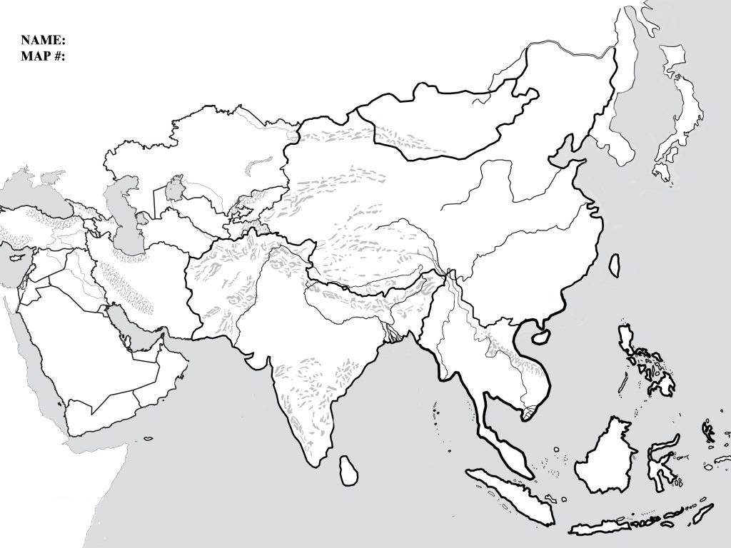 Blank Map Of Monsoon Asia And Travel Information | Download Free - Blank Outline Map Of Asia Printable