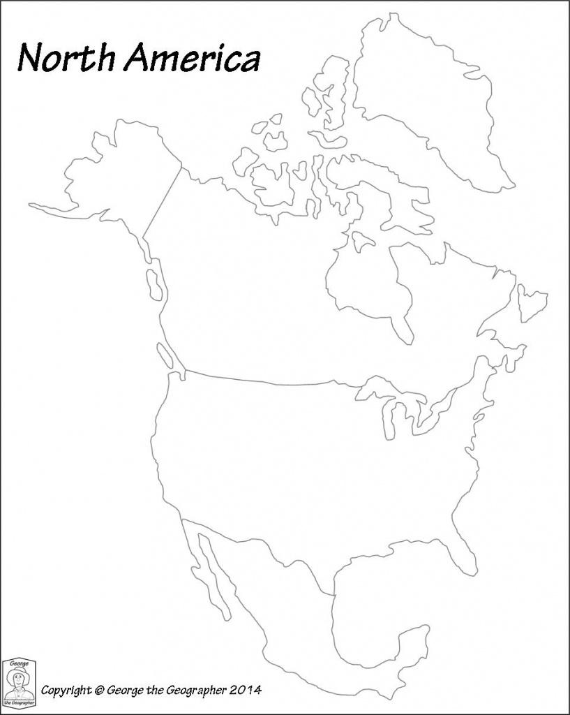 Blank Map Of North America Pdf | Casfreelancefinance - Blank Map Of North America Printable