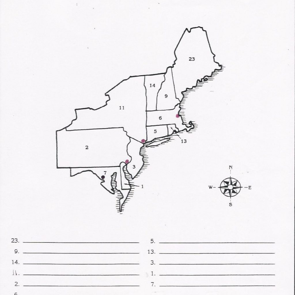 Blank Map Of Northeast States Printable Northeastern Us Political - Printable Map Of The Northeast