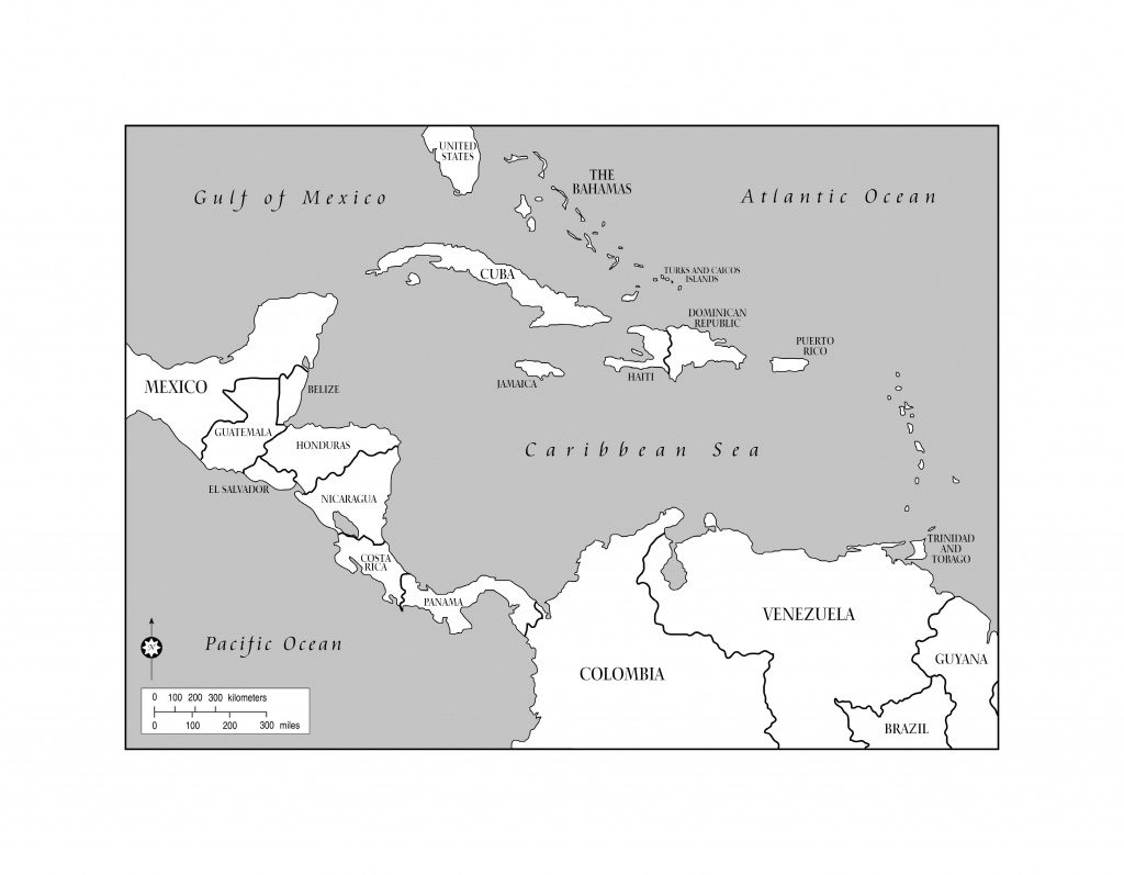 Blank Map Of The Caribbean And Travel Information | Download Free - Printable Map Of The Caribbean
