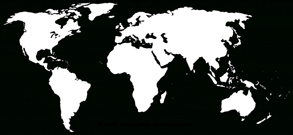 Blank Maps Of The World With Transparent Areas | Outline World Map - Printable World Map