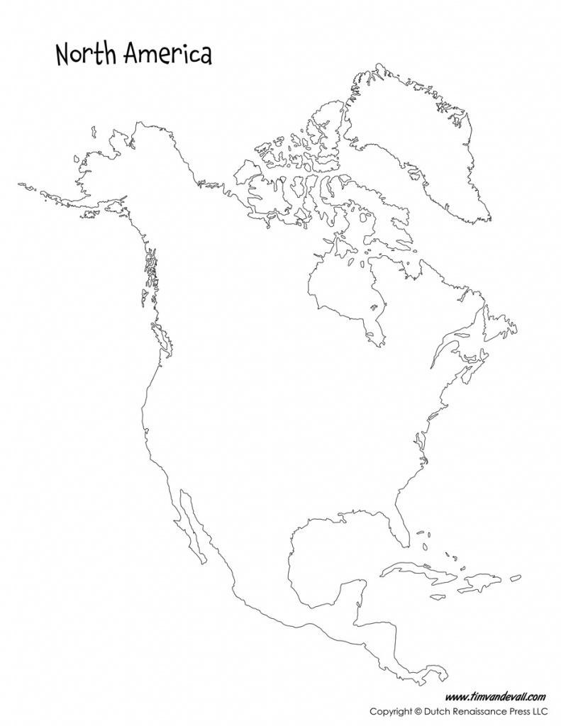 Blank-North-America-Map - Tim's Printables - North America Map Printable