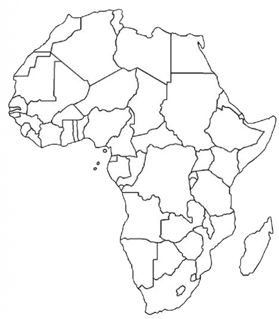 Blank Outline Map Of Africa | Africa Map Assignment | Party Planning - Printable Political Map Of Africa
