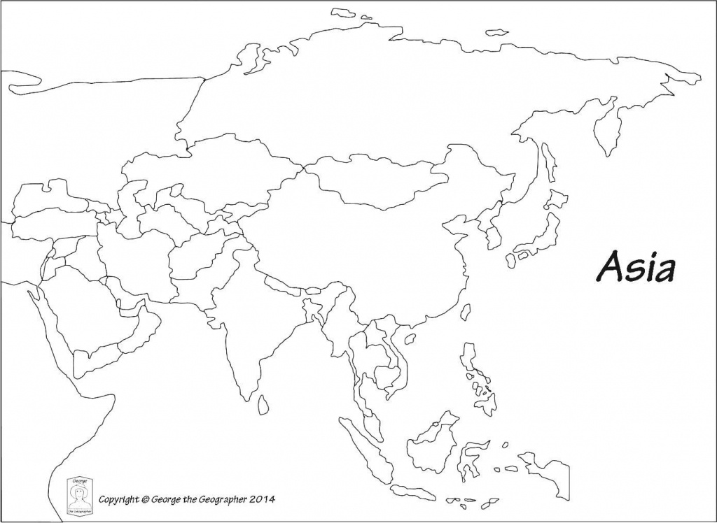 Blank Outline Map Of Asia Printable 0 - World Wide Maps - Printable Outline Maps