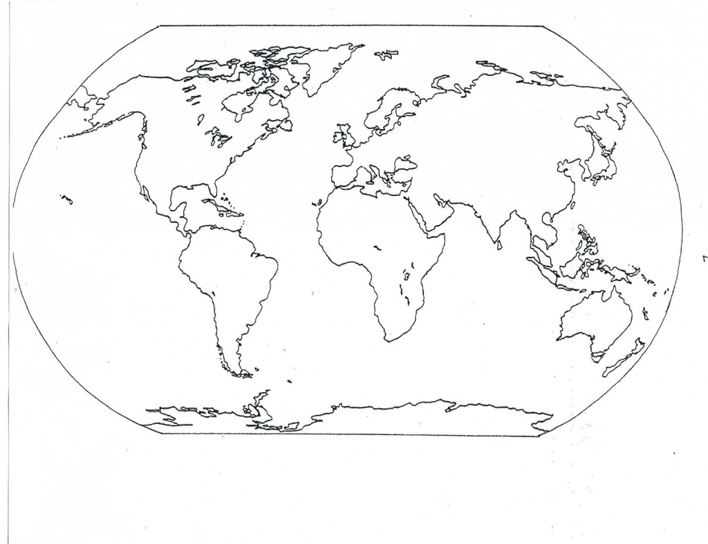 Blank Seven Continents Map | Mr.guerrieros Blog: Blank And Filled-In - World Map Oceans And Continents Printable