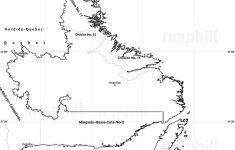 Blank Simple Map Of Newfoundland And Labrador   Printable Map Of Newfoundland