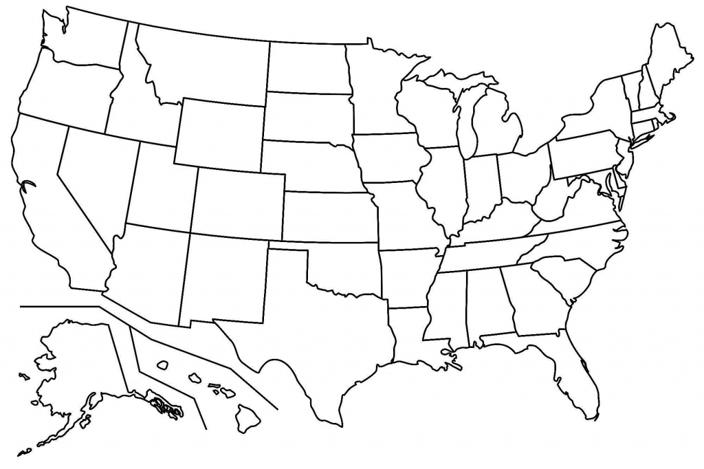 Blank Us Map Pdf Printable Of Capitals Maps - Printable United States Map Pdf