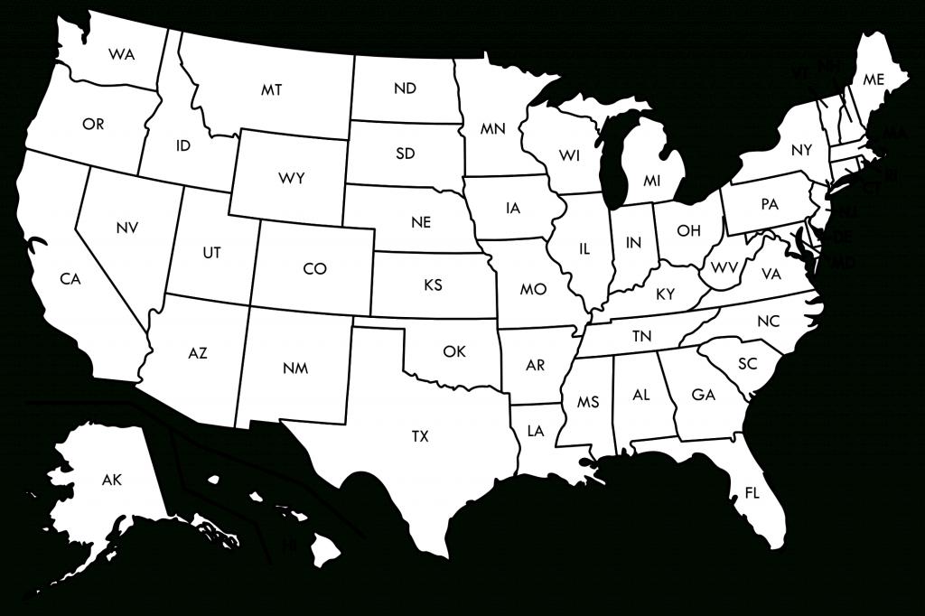 Blank Us Map Printable Pdf United States Outline Map Free Printable - Usa Map Printable Pdf