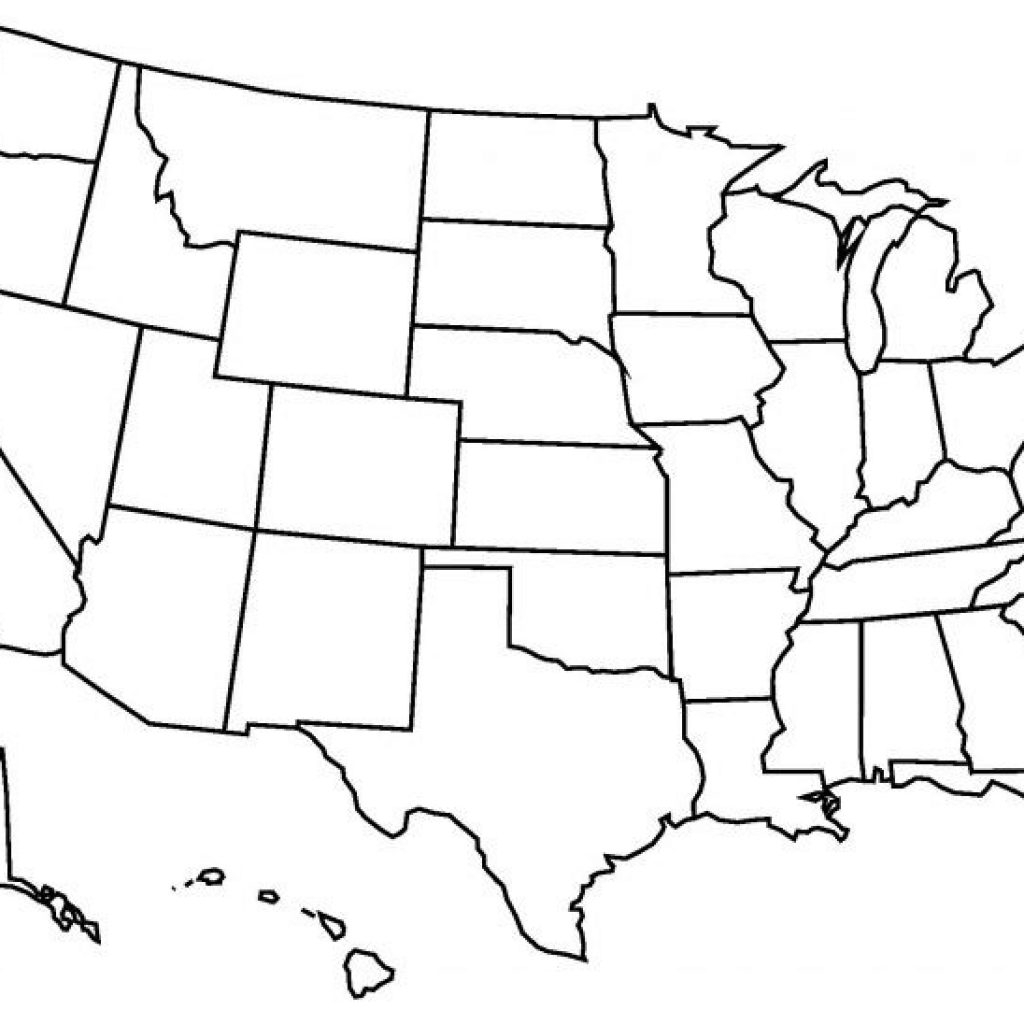 Blank Us State Map Printable East Coast Of Print - Blank Us State Map Printable