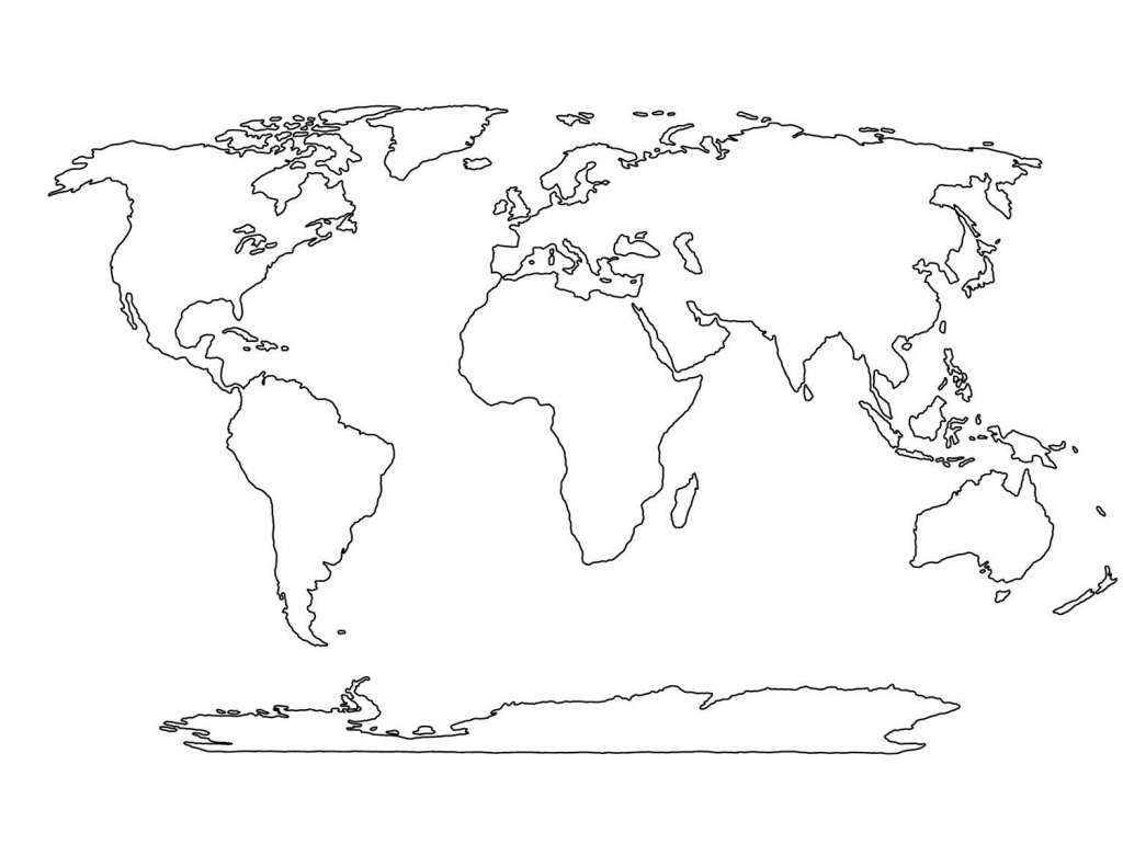 Blank World Map Printable | Sin-Ridt - World Map Continents Outline Printable