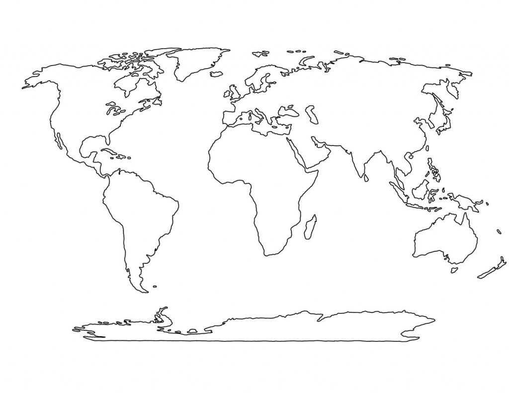 Blank World Map Printable | Social Studies | World Map Printable - Blackline World Map Printable Free
