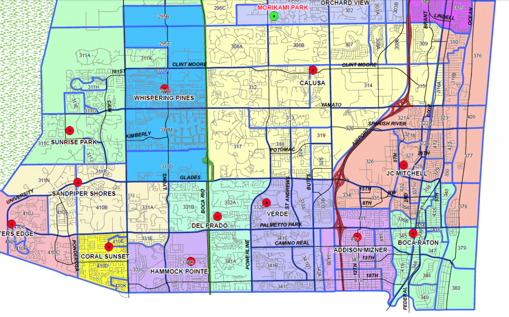 Boca Raton, Florida Public And Private Schools Information, Ratings - Boca Delray Florida Map