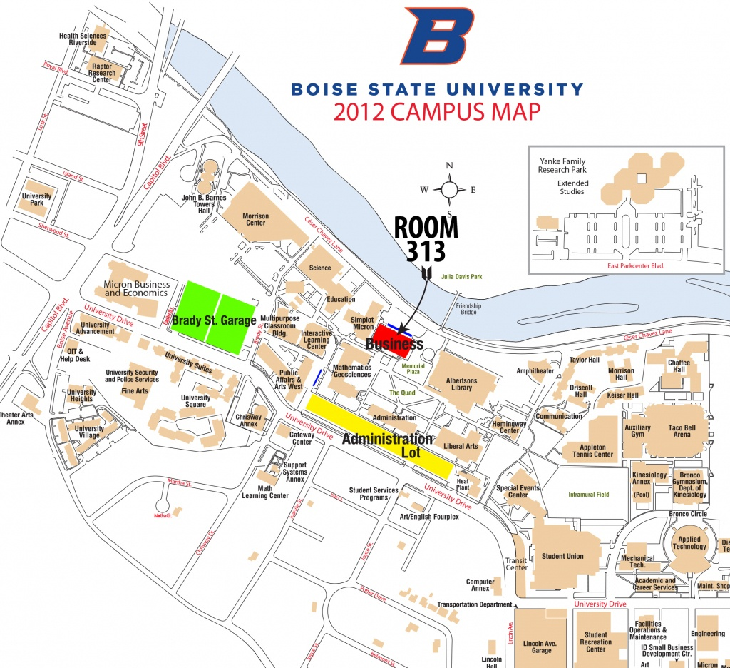 Boise State Campus Map (91+ Images In Collection) Page 2 - Boise State University Printable Campus Map