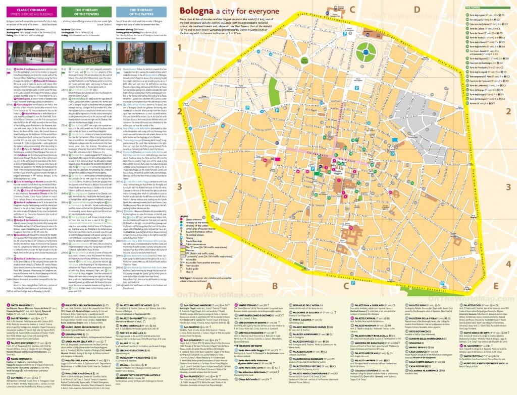 Bologna City Centre Map - Printable Map Of Bologna City Centre