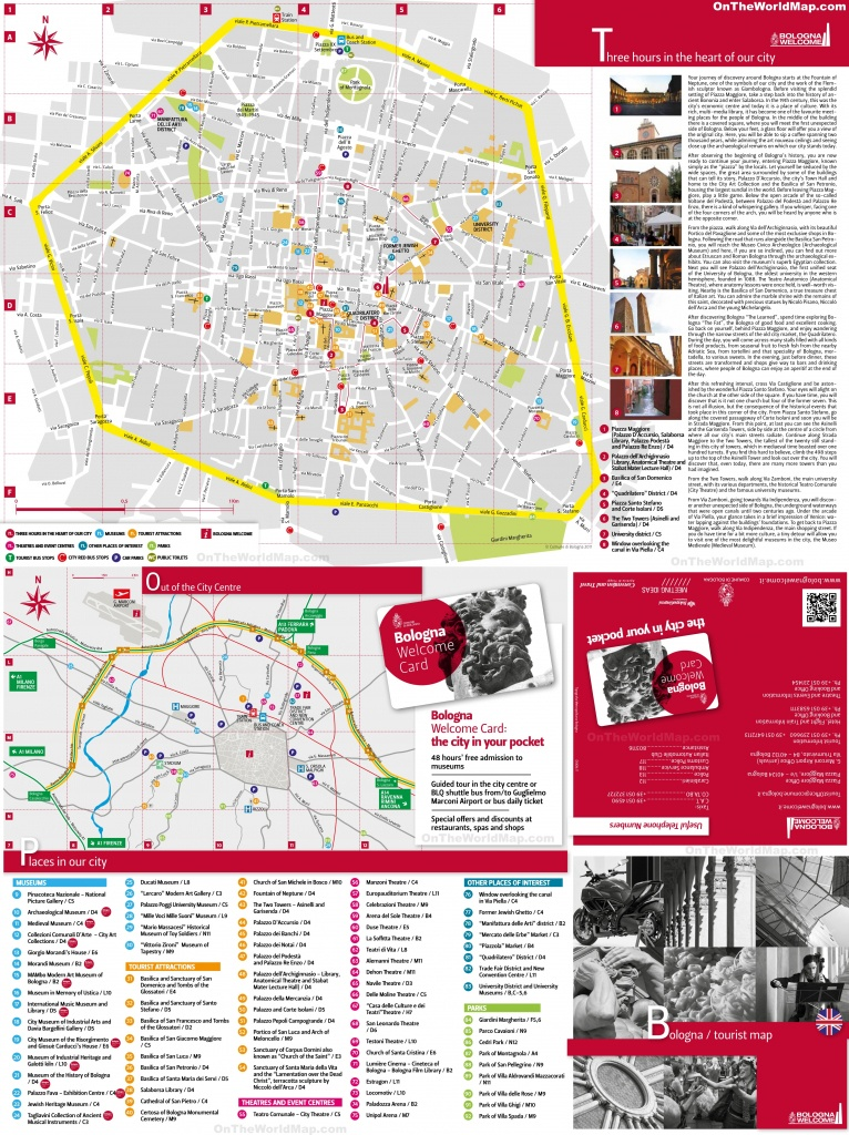Bologna Tourist Attractions Map - Bologna Tourist Map Printable