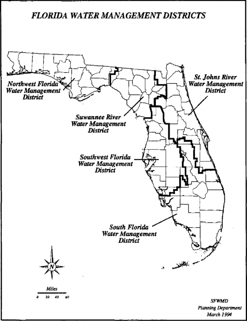 Boundaries Of Florida's Five Water Management Districts.   Download - Northwest Florida Water Management District Map