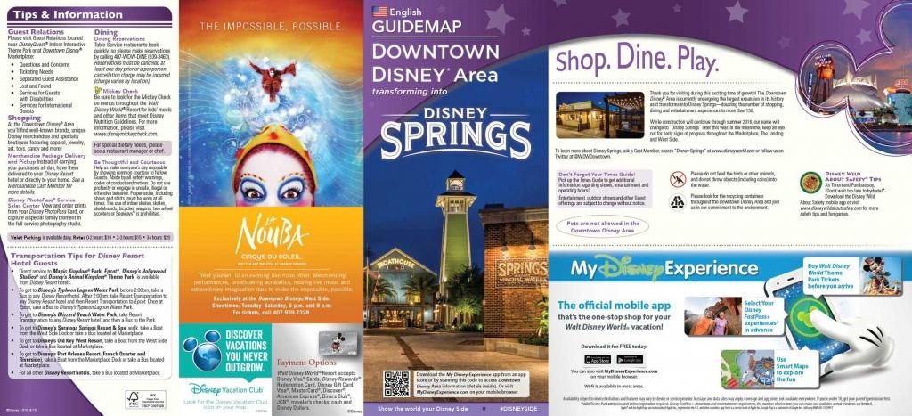 Brand New Map Of Disney Springs Released! - Disney Dining Information - Map Of Disney Springs Florida