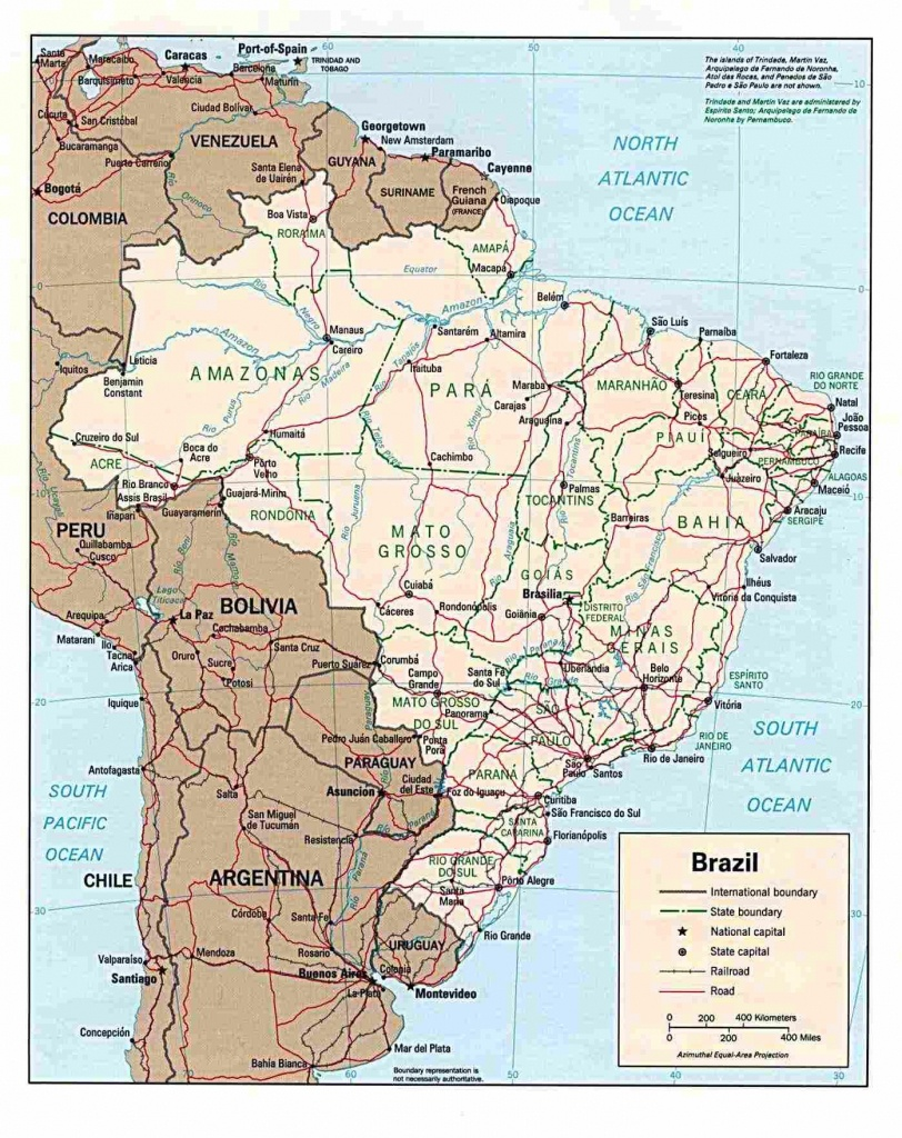 Brazil Maps | Printable Maps Of Brazil For Download - Free Printable Map Of Brazil