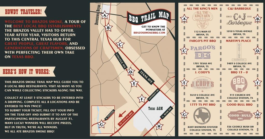 Brazos Smoke - Fidelis Creative Agency - Texas Bbq Trail Map
