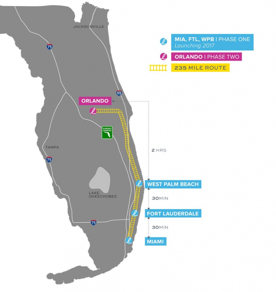 Brightline, Florida's New High-Speed Rail System, Set To Open This - Florida Brightline Map
