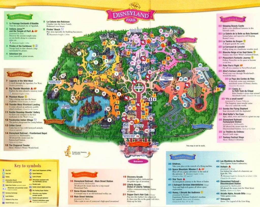 Brilliant Disneyland Paris Hotel Map 2015 With Regard To Inspire - Printable Disneyland Map 2015