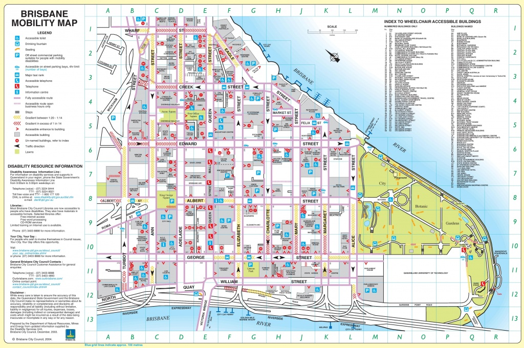 Brisbane City Center Map - Brisbane Cbd Map Printable