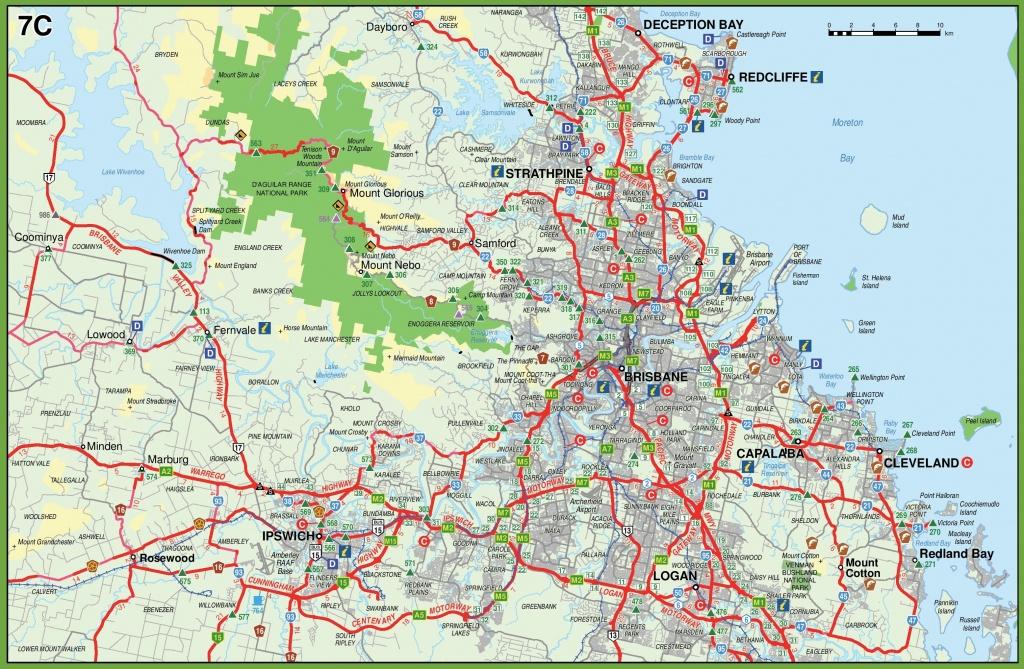 Brisbane Maps   Australia   Maps Of Brisbane - Printable Map Of Brisbane