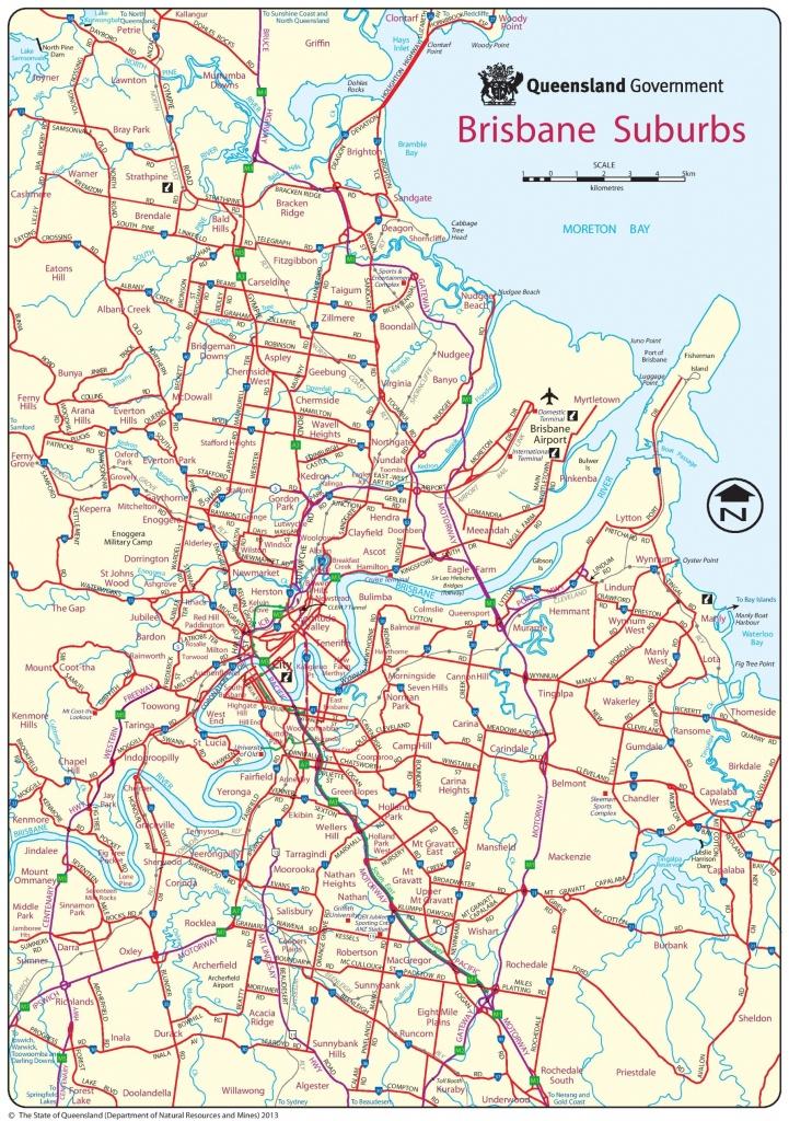 Brisbane Suburbs Map - Printable Map Of Brisbane