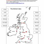 British Isles Map Worksheet   Free Esl Printable Worksheets Made   Free Printable Map Activities