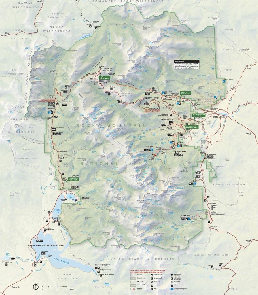 Brochures - Rocky Mountain National Park (U.s. National Park Service) - Printable Map Of National Parks
