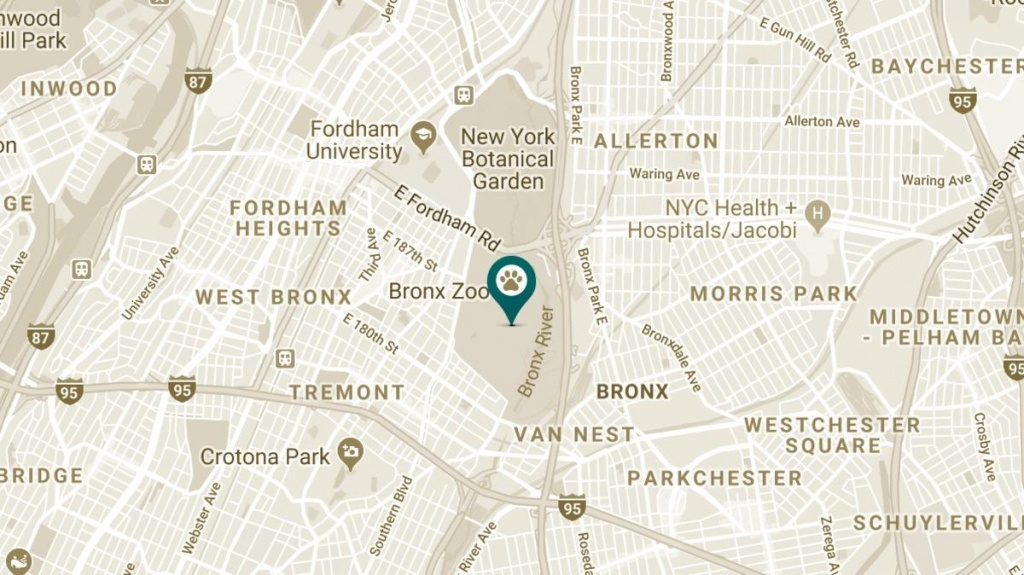 Bronx Zoo - Bronx Zoo Map Printable