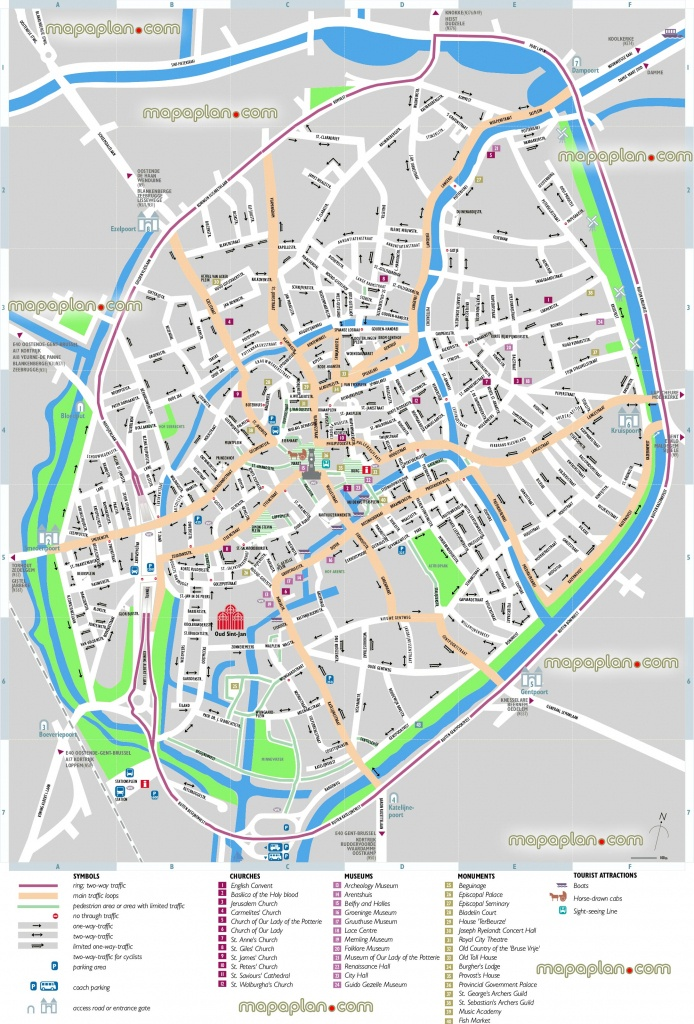 Bruges Map - Bruges Sightseeing Printable Virtual 3D Free Map For - Bruges Map Printable