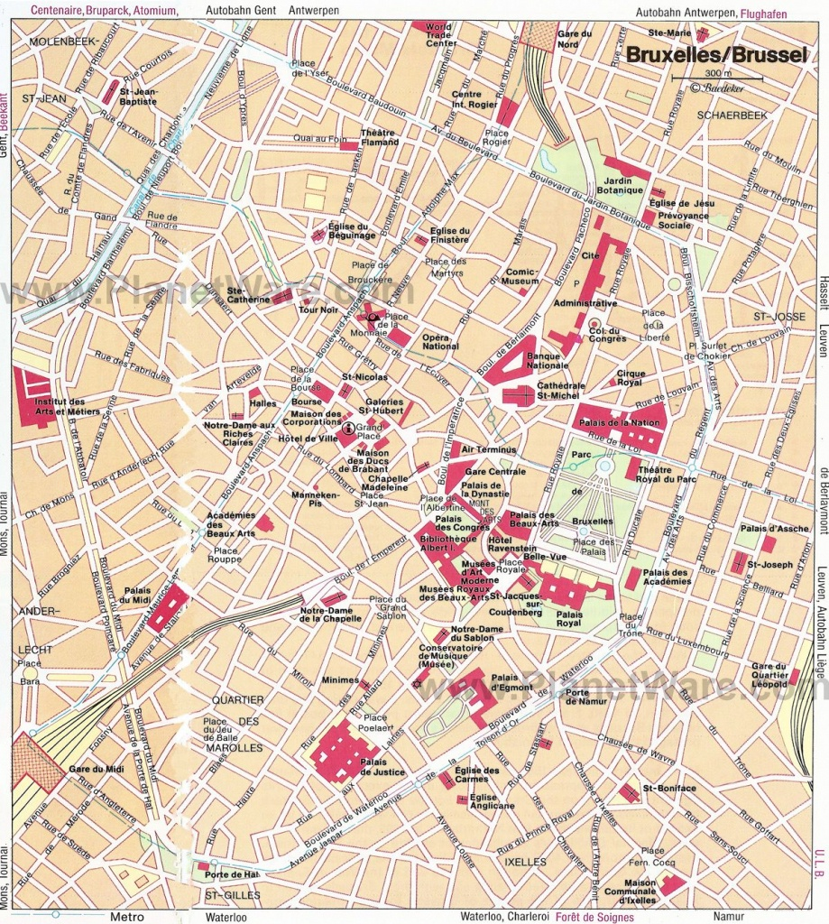 Brussels Map - Tourist Attractions - Great Map To Use When Teaching - Tourist Map Of Brussels Printable
