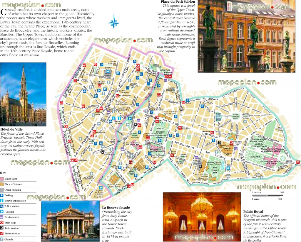 Brussels Maps - Top Tourist Attractions - Free, Printable City - Printable Map Of Brussels