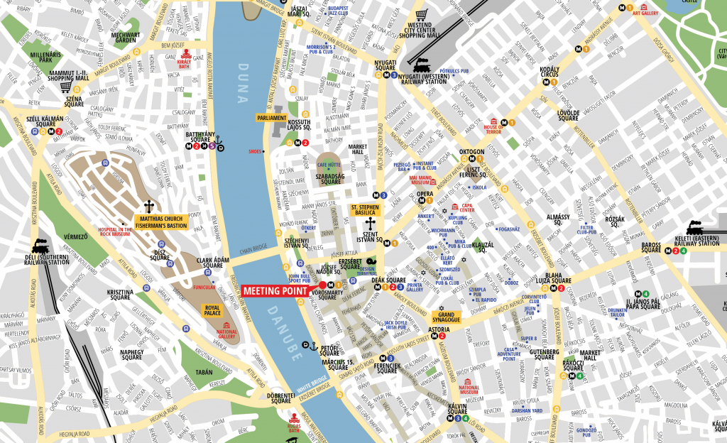 Budapest Attractions Map Pdf - Free Printable Tourist Map Budapest - Budapest Street Map Printable
