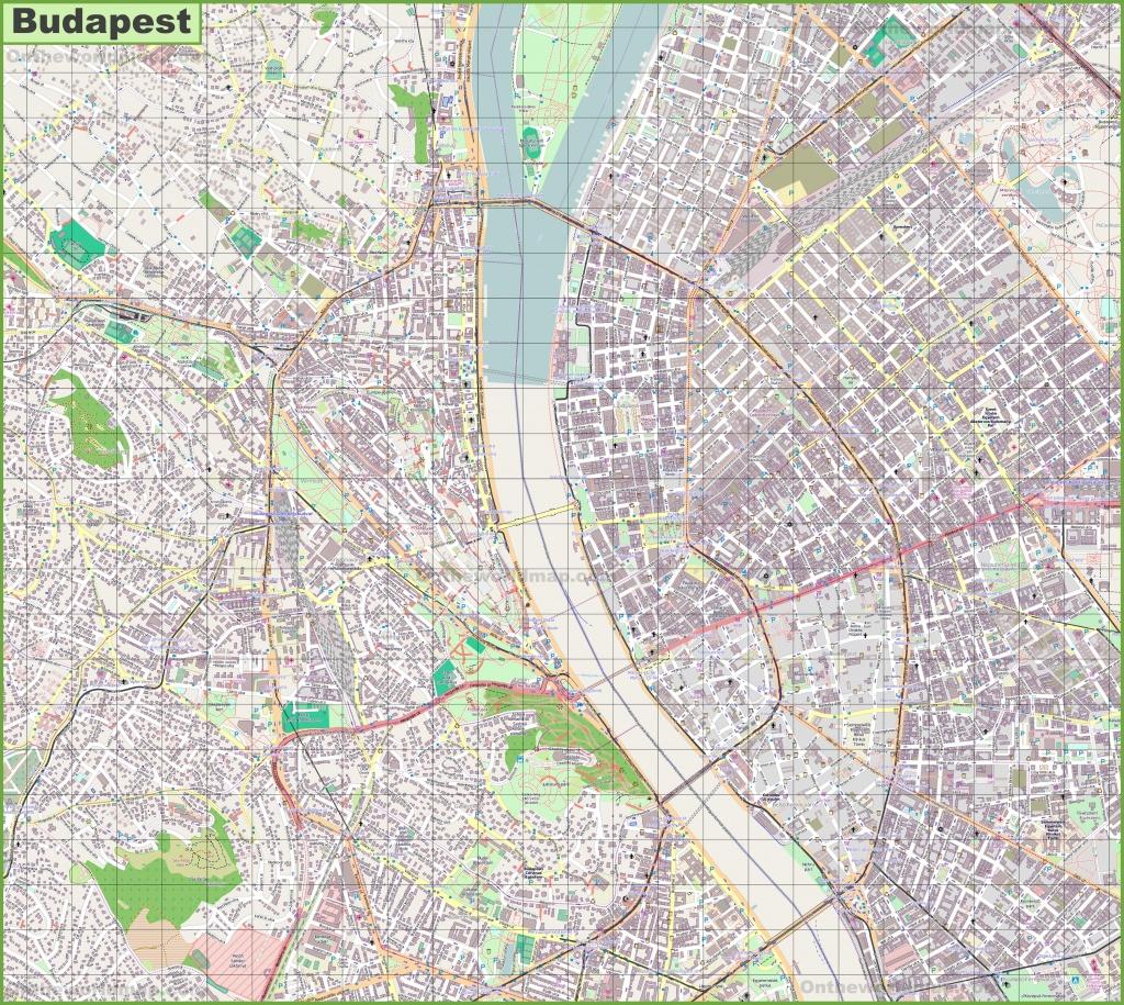 Budapest Street Map - Budapest Street Map Printable