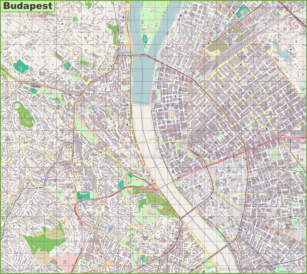 Budapest Street Map - Printable Map Of Budapest