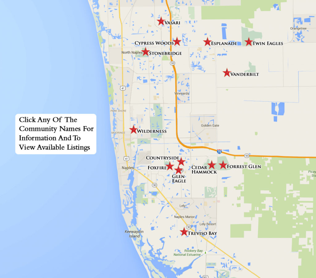 Bundled Search Map - Naples Florida Real Estate Map Search