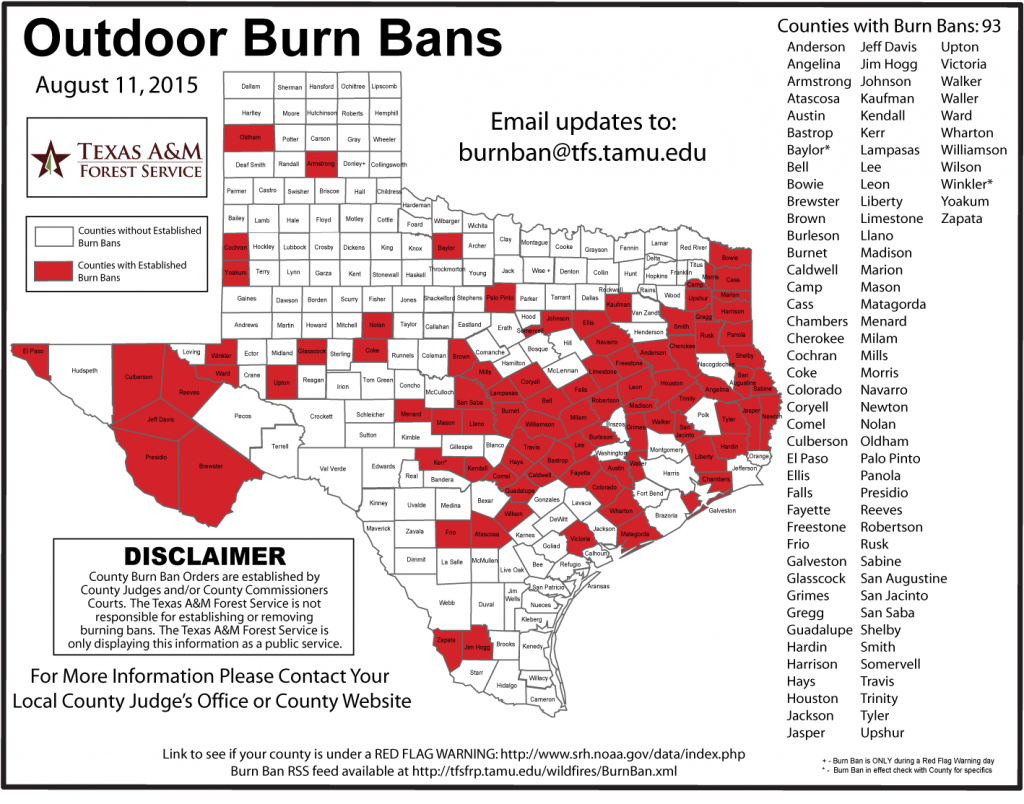 Burn Bans Extend Across Southeast Texas - Beaumont Enterprise - Burn Ban Map Of Texas